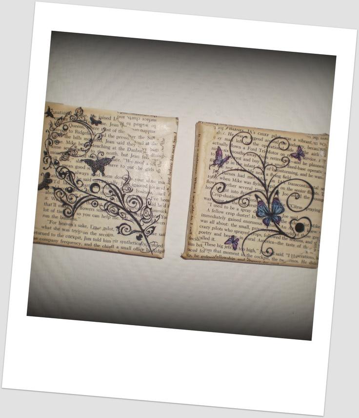 Esther's etalage: printen op pagina's van een oud boek