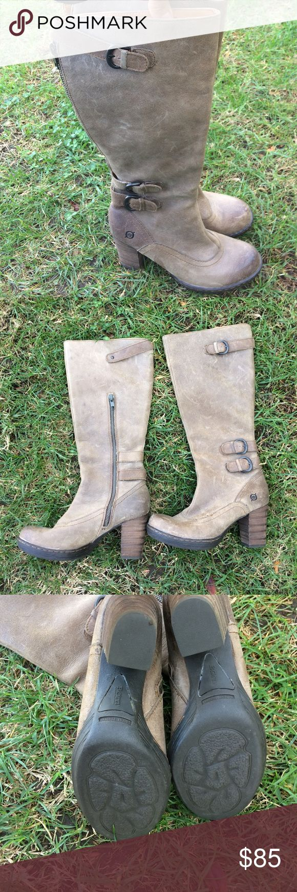 BORN boots  🎀NEW NO TAG .🎀 FINAL SALE BEAUTIFUL LEATHER BOOTS . Born Shoes Winter & Rain Boots