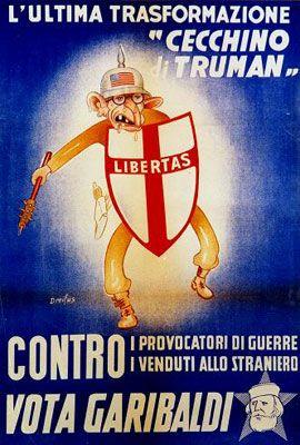 """18 aprile 1948 - Manifesto elettorale del """"Fronte Popolare"""""""