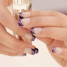 Image result for manucure francaise violet