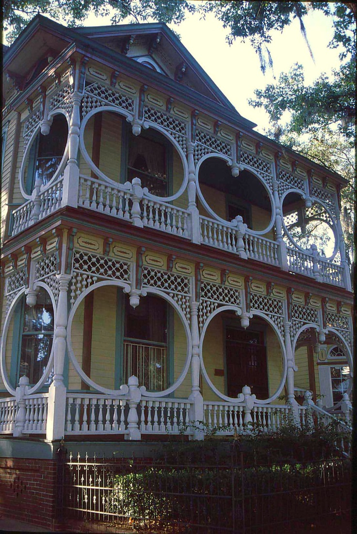 Also known as Queen Anne, this style is distinctive for its decorative detail.   See examples of the Victorian architectural style and famous Victorian landmarks.