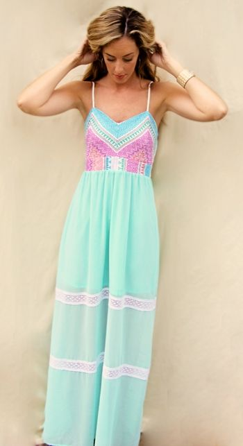 Maxi Dresses : Pretty Pastels Maxi Dress