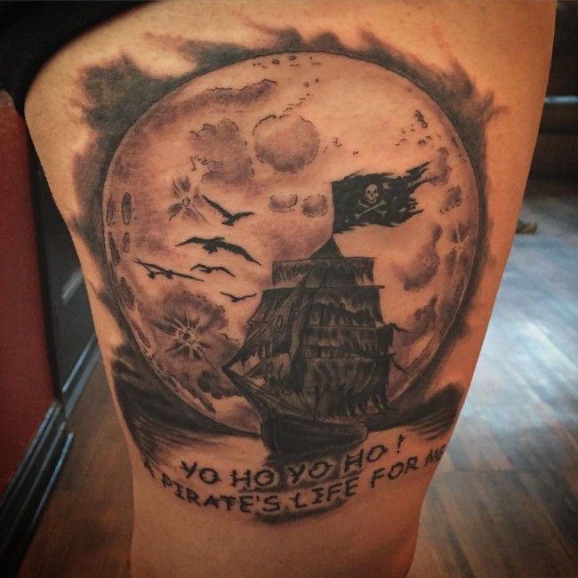17 best ideas about pirate ship tattoos on pinterest