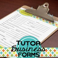 Want to help stream line your tutor business?  Check out my latest tutor forms...Giveaway this weekend (9/20/14) Entry is easy, just comment!