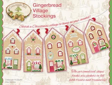Gingerbread Village Stockings  By Meg Hawkey  From