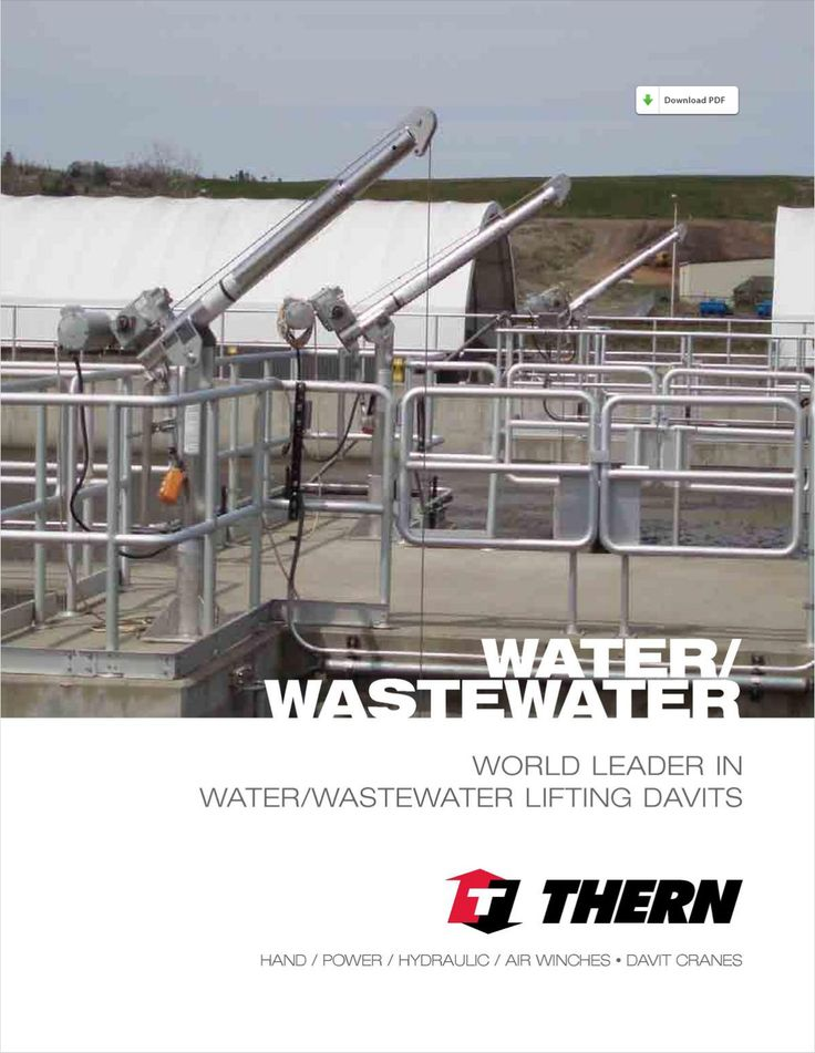 Lifting davits and winches solutions for the water/wastewater industry