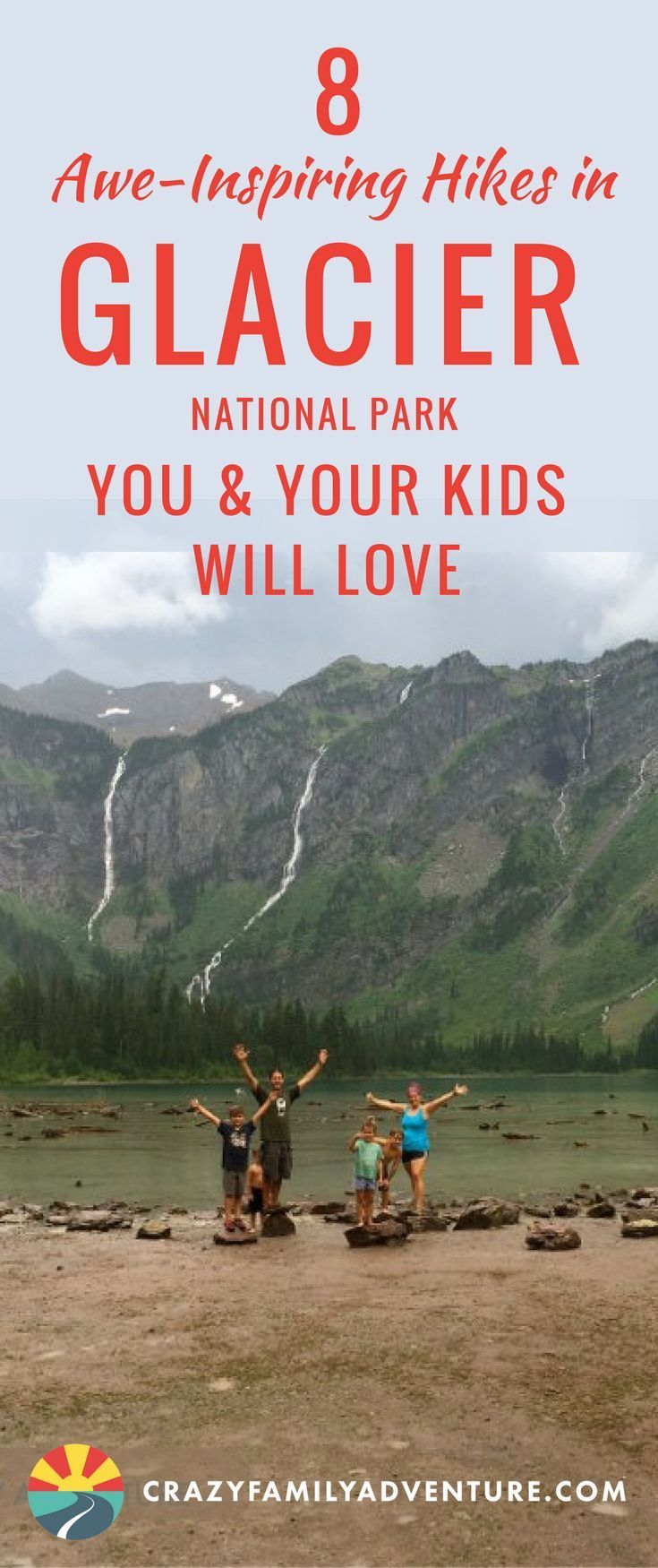 8 Awe-Inspiring Hikes in Glacier National Park You & Your Kids Will Love! Discover 8 of the best #hikes in #Montana to trek #withkids! #GlacierNationalPark, one of the most #beautifulplaces in the #UnitedStates, offers some pretty breathtaking #trails that even your kids will love!
