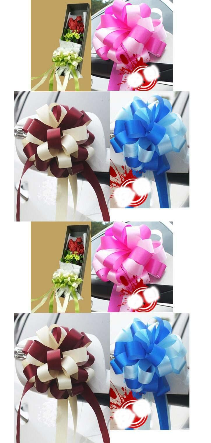 [Visit to Buy] 1.5meter=59inch Two-tone Pull Bows Ribbons Flowers Gift Wrapping Pullbows for Birthday Wedding Party Decoration Decor Craft #Advertisement