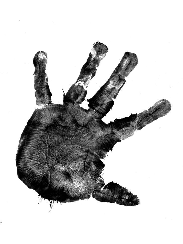 handprint paint fingerprint print finger print hand print black ink trevor