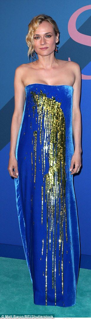 Golden goddesses: Lupita Nyong'o took a chance with a Jason Wu gold dress - and looked fla...