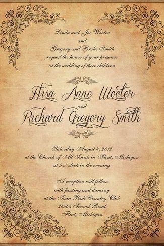 An aged scroll-style vintage wedding invite. Vintage Wedding Invitations | Confetti Daydreams ♥  ♥  ♥ LIKE US ON FB: www.facebook.com/confettidaydreams  ♥  ♥  ♥ #Wedding #Vintage #WeddingInvitations