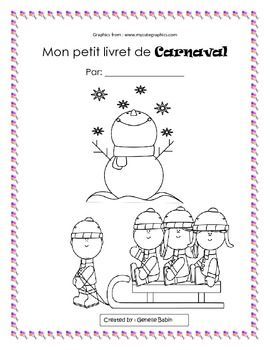 French Immersion Reading Writing Carnaval Booklet