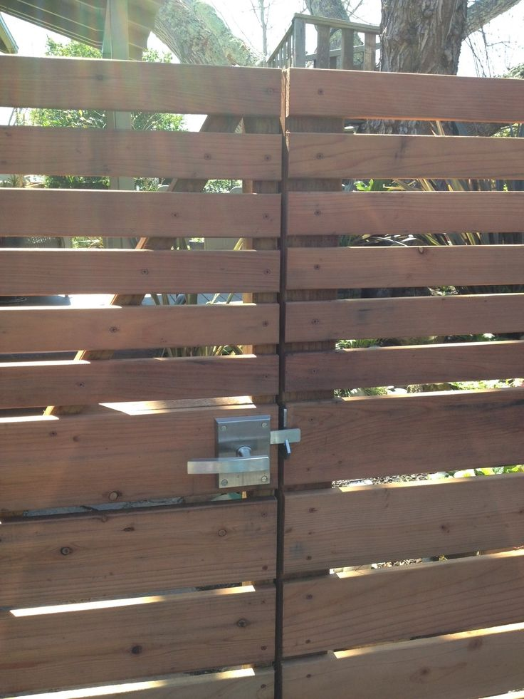 An Out Swinging Gate That Latches Onto The Adjacent Fence