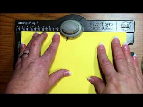 How To Make A Card Box With The Envelope Punch Board - YouTube