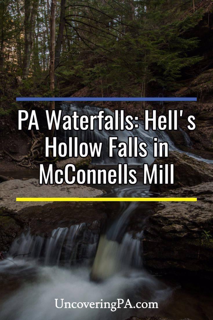 Hellu0027s Hollow Falls in McConnells Mills State