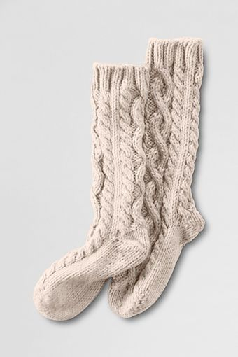 Women's Slipper Socks from Lands' End