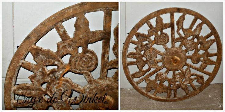oud bouwmateriaal/old iron grid @onyxdewinkel.nl