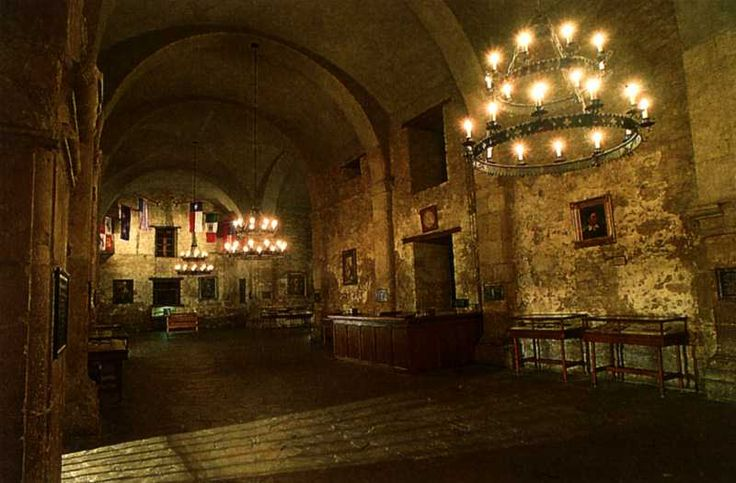Undated Photo Of The Interior Of The Alamo Church The