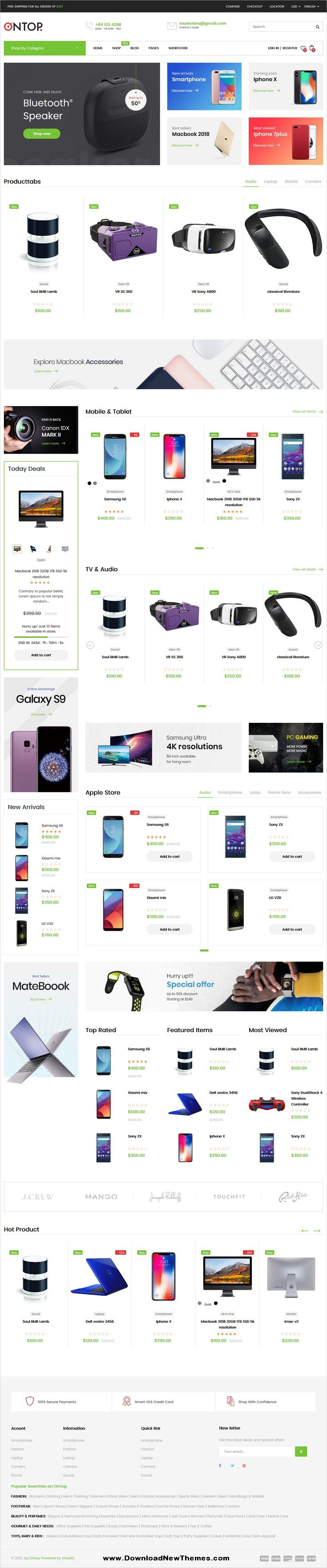Ontop is a clean, minimalist and modern design responsive