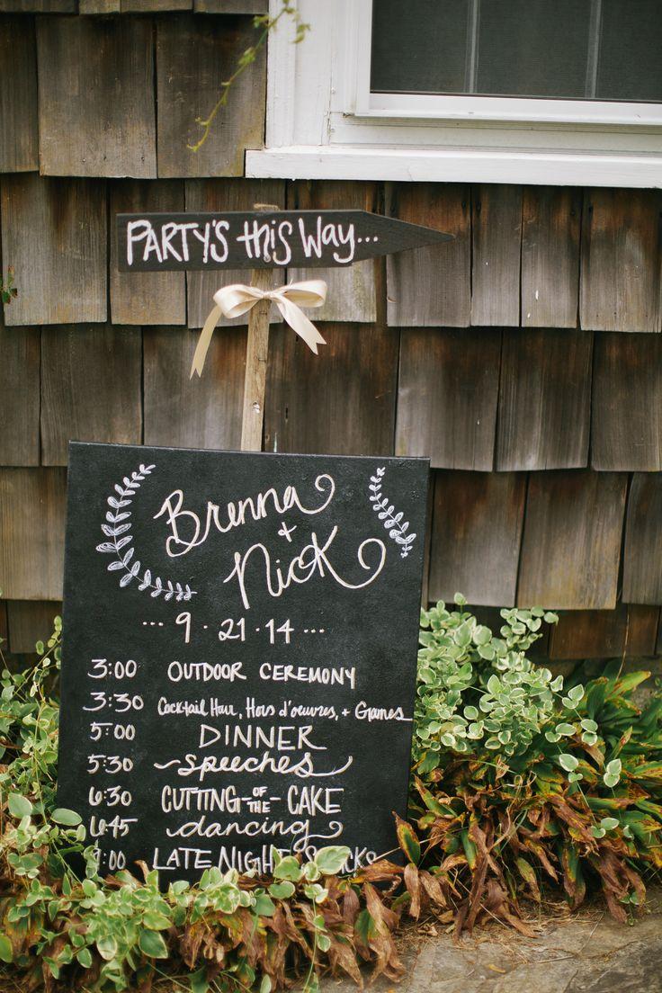 Cape Cod Celebrations Chalk Board Signage