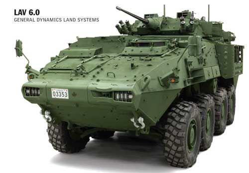 LAV 6 buatan General Dynamics. Calon ACV untuk Korps Marinir Amerika Serikat.