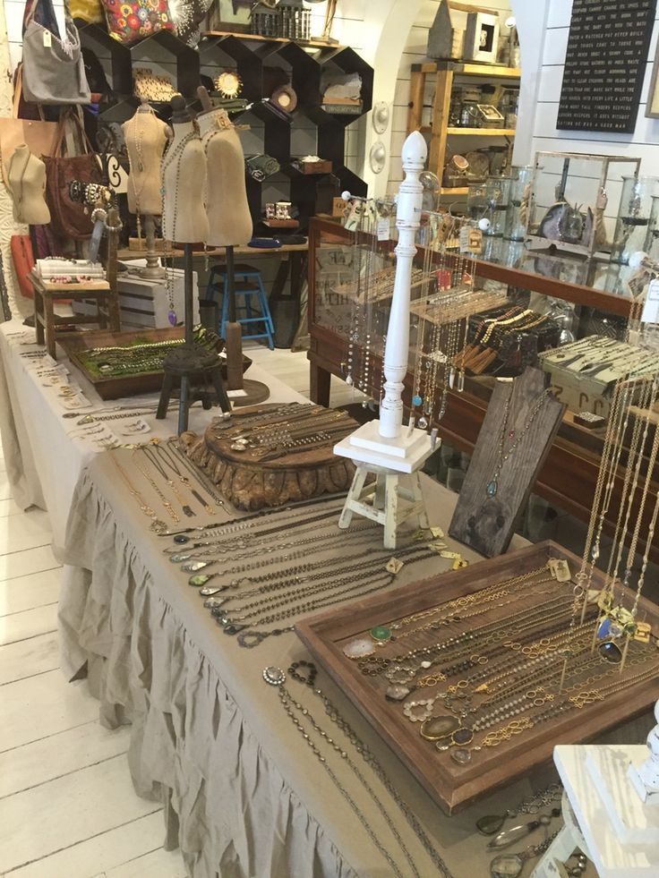Trunk show display at Sugarboo and Co by Lisa Jill Jewelry.