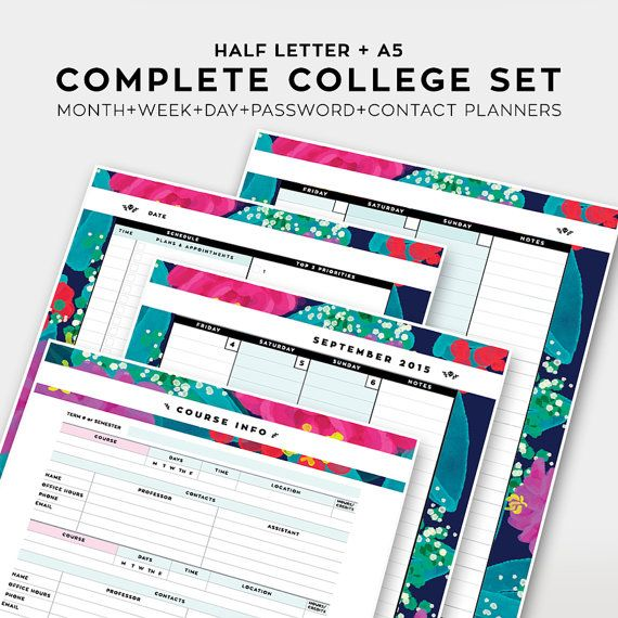 complete college student planner 2015 2016 academic by