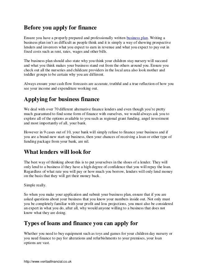Day Nurseries Business Plan - Better opinion