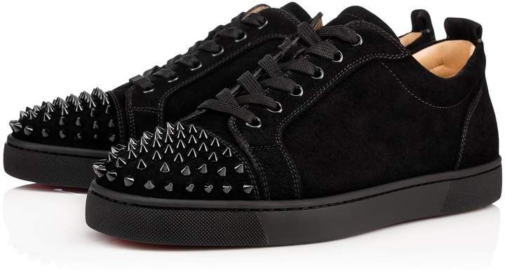 brand new 38520 6986e Louis Junior Spikes Black/Black Suede - Men Shoes ...