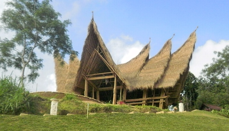 Bamboo implemented on Minang style architecture, West Sumatera, Indonesia
