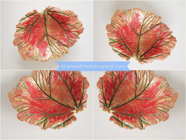 Diy Tutorial Leaf bowl  jak zrobić miskę liść Diy