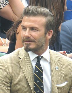 "Becks...always stylish. Looks like a ""Count"" with that beard style. I like it! :)"