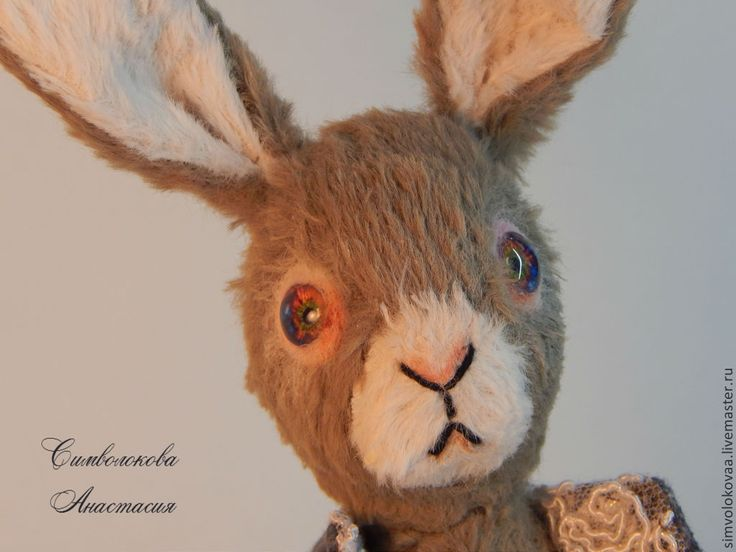 Кролик. - серый,символокова,кролик,заяц,тедди,авторская игрушка,подарок