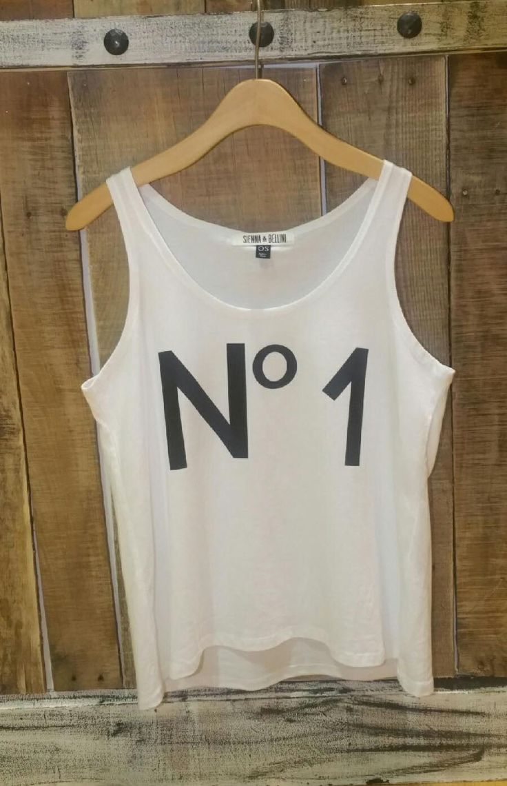"""No 1"" Graphic Tee $24.95 Siennabellini.com"