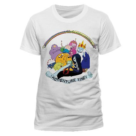 Adventure Time - Rainbow Full Cast T-shirt White ... (Barcode EAN=5054015135832) http://www.MightGet.com/march-2017-1/adventure-time--rainbow-full-cast-t-shirt-white.asp