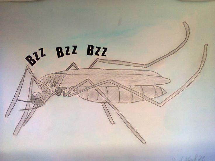 Komár - kombinované techniky (8.roč.)