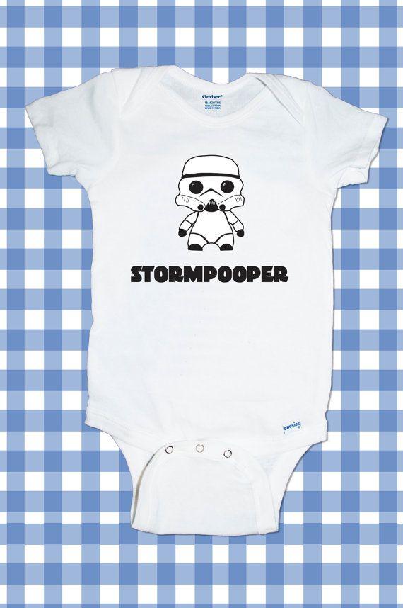 Adorable Star Wars Stormtrooper DarthVader Yoda Jedi R2R2 ganzflächige lustige Custom T-Shirt Baby Boy / baby Mädchen Body aller Größen