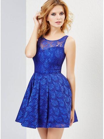 Sukienka Ellen w kolorze chabrowym