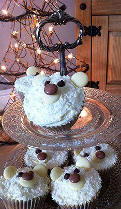Christmas Cupcake Ideas Polar Bear Cupcakes