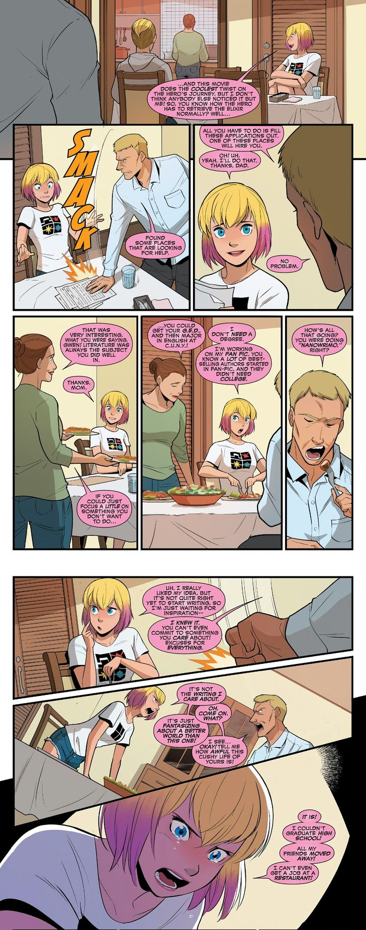 Tell me again how all new Marvel characters are unrelatable and flawless Mary Sues (The Unbelievable Gwenpool #16)