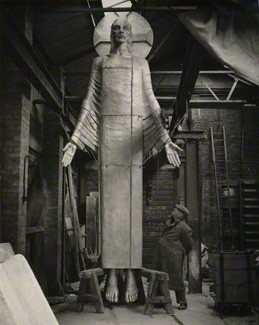 Christ by Epstein now in situ in Llandaff Cathedral, Cardiff