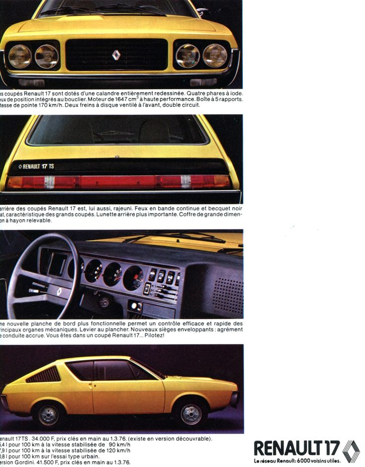 Renault 15 TL - L'Automobile mars 1976.
