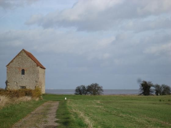 At Bradwell on Sea in Essex is the chapel of St Peter on the Wall which he built…