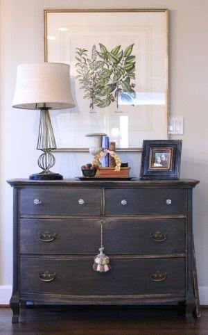 i love the distressed dresser