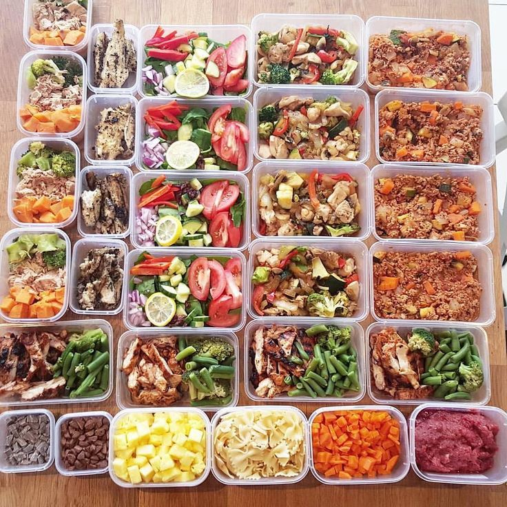 """Do you meal prep for your team/family? This  dot com prep is from @original_sophie  :::::::::::::::::::::::::::::::::::::::::"""" Meals for three! Turkey bolognaise  Chicken and veg stirfry  Basa and salad  Tuna sweet potato and Broc  Chicken and veg (other meals not in pic)  Pet mince carrots and pasta  Pineapple  Treats :::::::::::::::::::::::::::::::::::::::::""""  Your Turn! Check what favorite meal prep gear & containers to start meal prepping! (mealprepster.com) #mealpreplife #mealprepster…"""