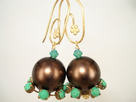 vintage perler og krystal
