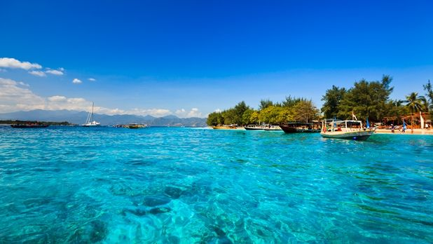 The Gili Islands sit just off the northwestern tip of Lombok, Indonesia and offer varied activities.