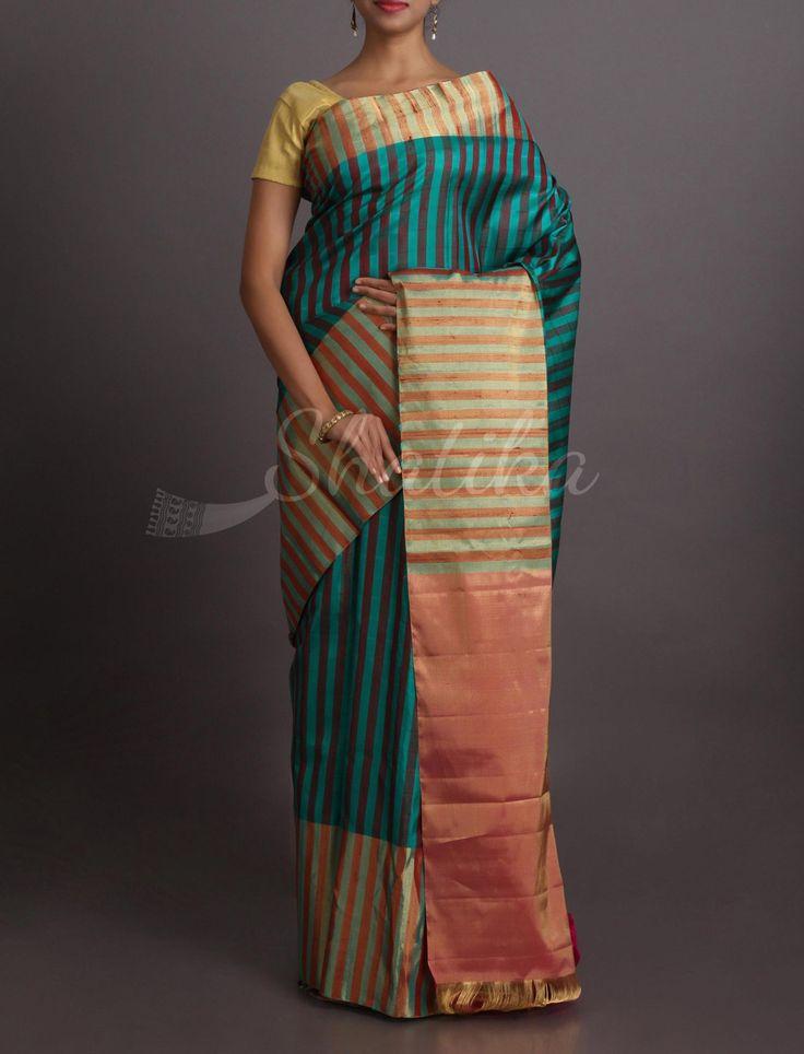 Noori Striping Beauty Striking #WeddingSilkSaree