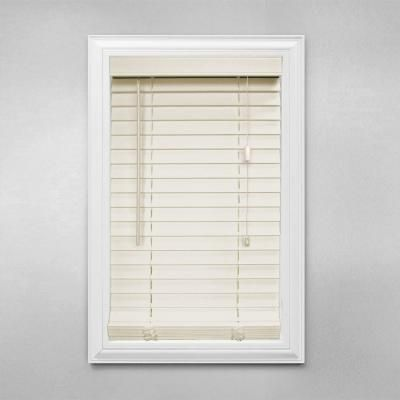 home decorators collection alabaster 2 in faux wood blind 35 in w x 64 in l actual size 345 in w x 64 in l