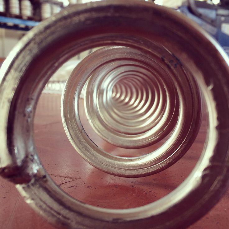 Milled malt goes into grist hopper following the light !!! #crakingday